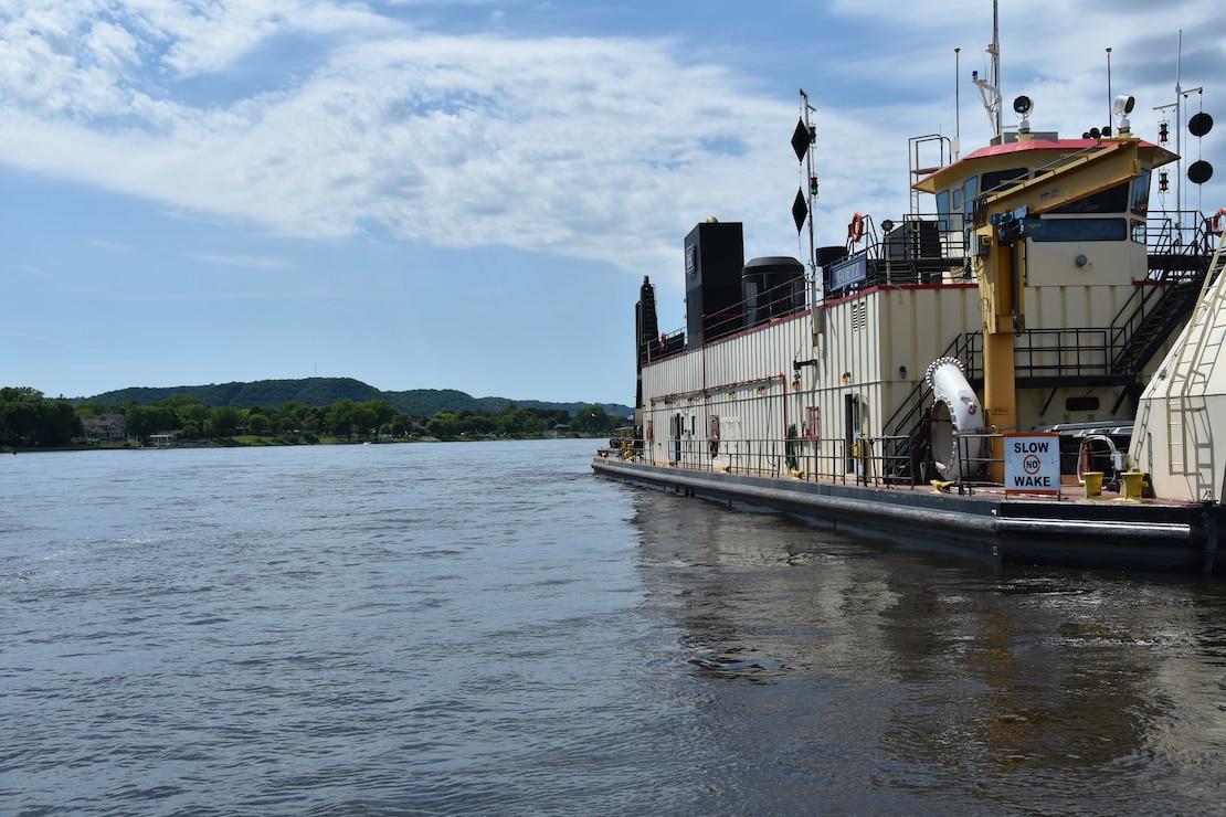 dredge vessel on river
