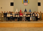Volunteers for the annual Take Our Daughters and Sons to Work Day event were recognized with a Certificate of Appreciation during a quarterly awards ceremony May 30. The ceremony recognized more than 100 individuals.