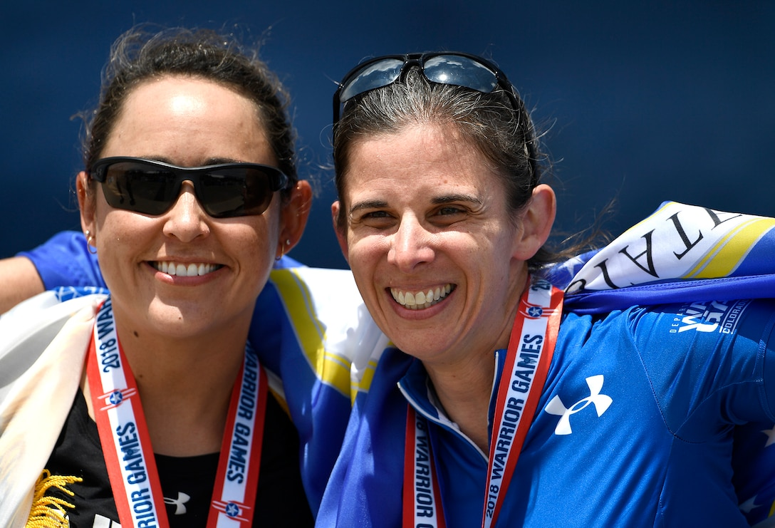 LtCol Audra Lyons at the 2018 Wounded Warrior Games.
