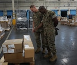 Assistant deputy commandant for Installation and Logistics, Headquarters, U.S. Marine Corps visits DLA Distribution San Joaquin