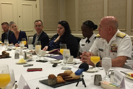 "United States allies in South America ""got game"" and are exporters of security, Navy Adm. Kurt Tidd commander of U.S. Southern Command, tell reporters here at the Defense Writers' Group in Washington, D.C."