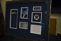 A dedication ceremony was held here to honor the memory of Staff Sgt. Marilyn Scott, at New Castle Air National Guard Base, Del., June 3, 2018. Scott was a member of the 166th Operations Support Squadron and tragically lost her life on Feb. 7, 2017.