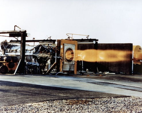 #OTD 6 Jun 1959 at Edwards - The first ground test of Thiokol's XLR-99 liquid fueled rocket engine for the X-15 took place at the Static Test Stand.  Delivering 50,000 lbs of thrust at ground level, it was the most powerful and complex throttleable rocket propulsion system in the world.