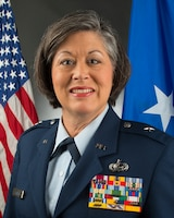 Official photograph of Brig. Gen. Paige Hunter, commander of the West Virginia Air National Guard (U.S. Air National Guard photo by Tech. Sgt. De-Juan Haley)