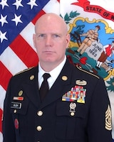 Official photo of West Virginia Army National Guard Command Sgt. Maj. James Allen.