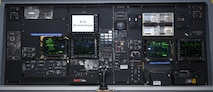 B-52H Stratofortress navigator and radar-navigators workstation inside the 76th Software Maintenance Group's test lab May 29, 2018, Tinker Air Force Base, Oklahoma.