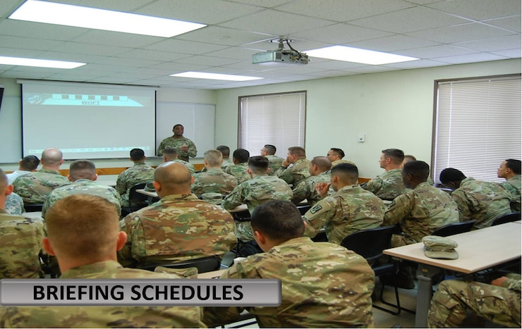 Warrant Briefing Schedule