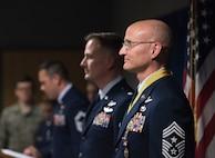 Chief Master Sgt. Lance Jordan retires.