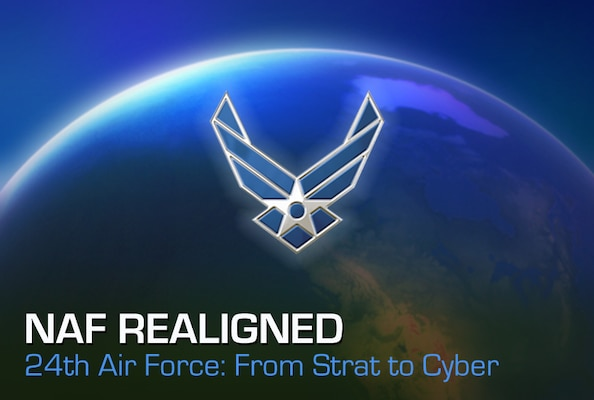 Air Force officials announced the service's cyber responsibilities will realign to Air Combat Command from Air Force Space Command. Units realigning include 24th Air Force and subordinate units, as well as the Cyber Support Squadron, Air Force Network Integration Center and Air Force Spectrum Management Office, which are currently direct reporting units to AFSPC.
