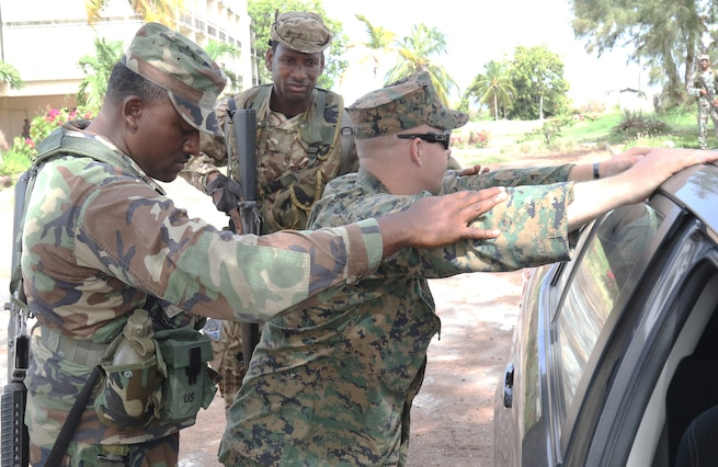 Grenada forces train with U.S. Marines during Tradewinds exercise.