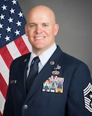 Portrait of 137th Special Operations Wing Command Chief Master Sergeant Stephen L. Rosebrook.