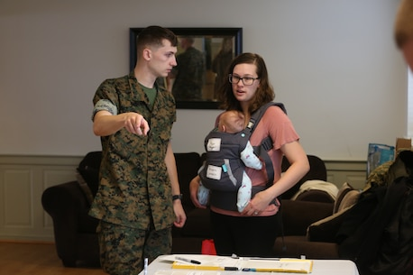 Chemical Biological Incident Response Force family readiness team, with the assistance of Marine Corps Community Services Henderson Hall, hosted a Spouse Meet and Greet at the Mix House aboard Naval Support Facility Indian Head, April 17, 2018.  (Official USMC Photos by Staff Sgt. Santiago G. Colon Jr.)