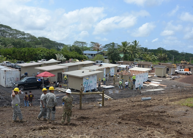 Hawaii National Guard hard at work on micro-shelter project