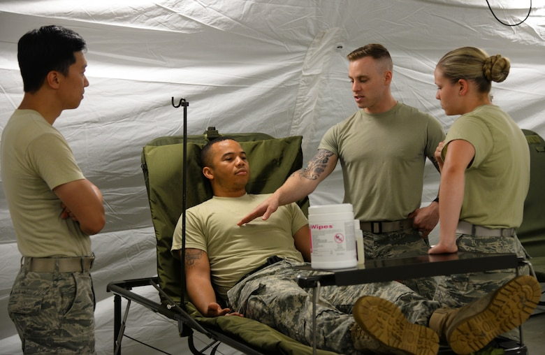 In an effort to advance combat readiness, the 86th Medical Group conducted Exercise Maroon Surge on Ramstein Air Base, Germany, June 4 through June 11.