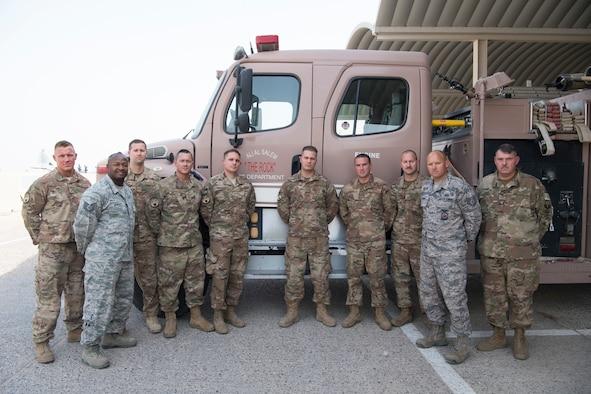 Multinational first responder's extinguish fire