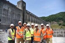 LRD Commanding General Visits Bluestone Dam