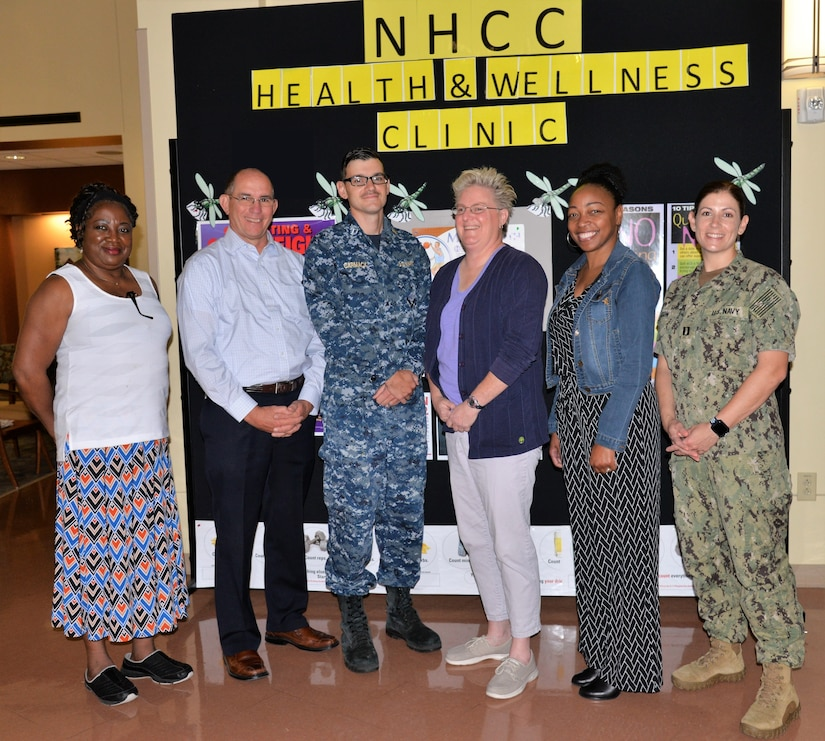 Staff members of the Naval Health Clinic Charleston Wellness Committee were recognized recently for their initiatives that lead to NHCC earning the 2017 Blue-H, Navy Surgeon General's Health Promotion and Wellness Award, Gold Star.