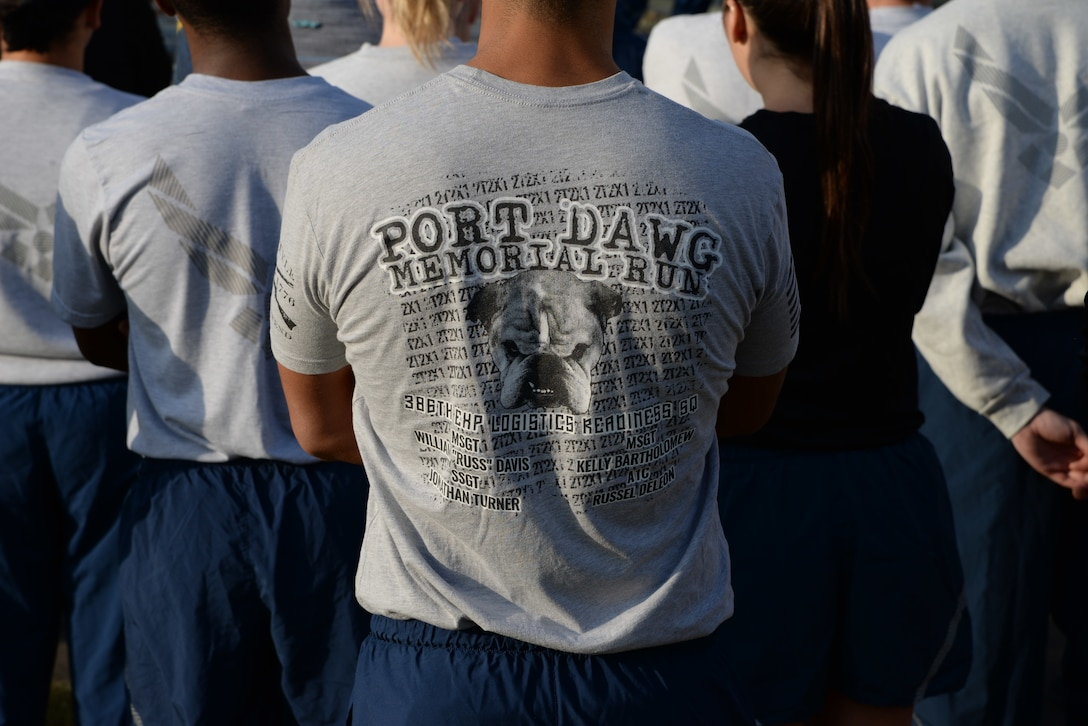 """Each year, the third Friday in May is recognized as National Defense Transportation Day. Members of the Air Force air transportation community, commonly referred to as """"Port Dawgs,"""" come together to remember fallen Port Dawgs and the contributions they have given to the Air Force."""