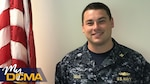 Navy Lt. Andrew Small is a contract administrator at Defense Contract Management Agency Lockheed Martin Moorestown in New Jersey. He has been a part of the DCMA team for a year and a half. (DCMA photo by Navy Lt. Jonathan Bradshaw)