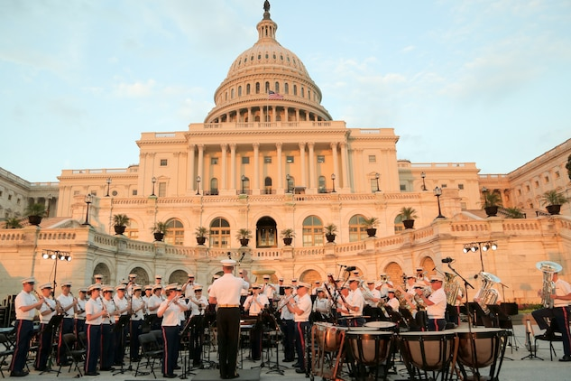 Marine Band on the West Terrace of the U.S. Capitol