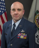 Official photo of Command Chief Master Sgt. James Dixon