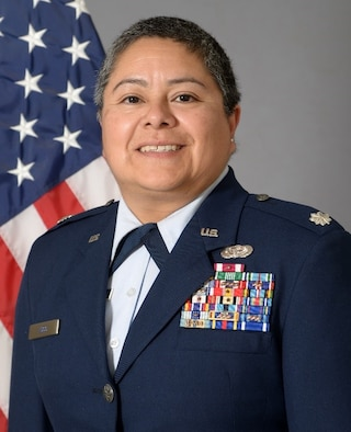 Lt. Col. Carla C. Lugo is the commander of the 44th Aerial Port Squadron, 624th Regional Support Group, Andersen Air Force Base, Guam.