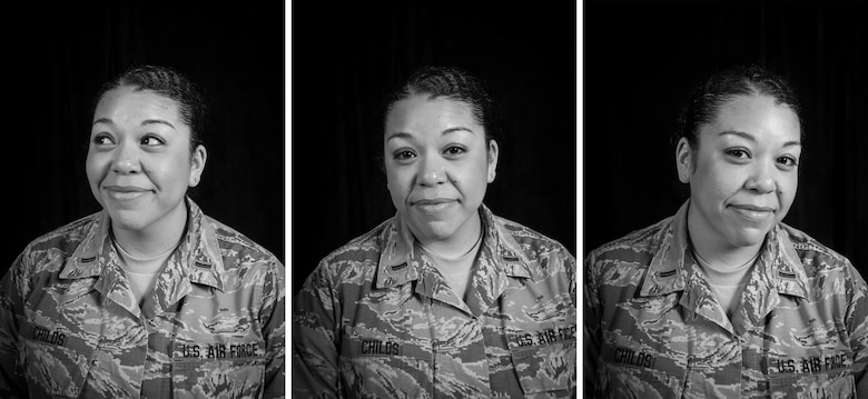 "2nd Lt. Melissa Childs from the 128th Air Refueling Wing Headquarters office sits for a portrait before being interviewed for the first ""Know Your Military"" article series Feb 27, 2018."