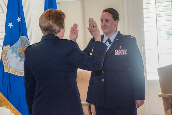 Air Force Surgeon General promotes Airman at Maxwell