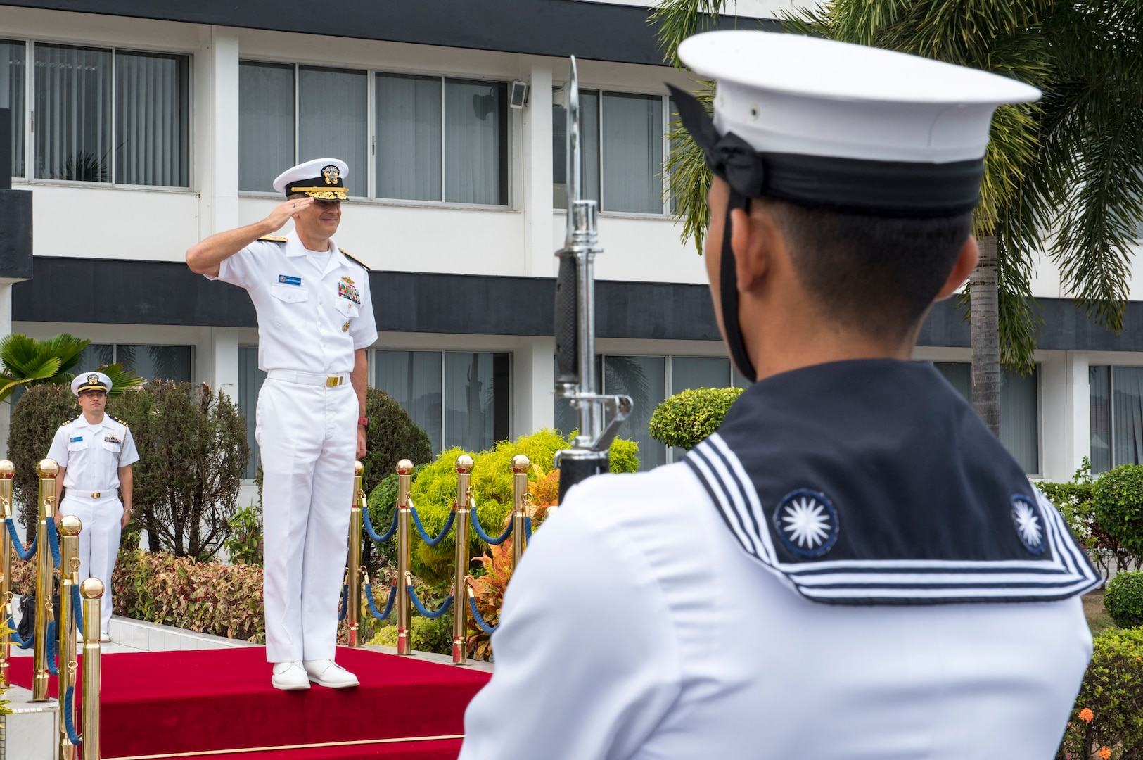 COMLOG WESTPAC/Task Force 73 Changes Command in Singapore