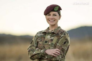 Army Capt. Emily Nunez Cavness.poses for a picture.