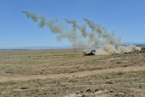 Soldiers from the Idaho Army National Guard's 116th Engineer Battalion and the U.S. Army Reserve's 321st Engineer Battalion conducted a live-fire M58 Mine Clearing Line Charge (MICLIC) range June 13, 2018, at the Orchard Combat Training Center, Boise, Idaho.