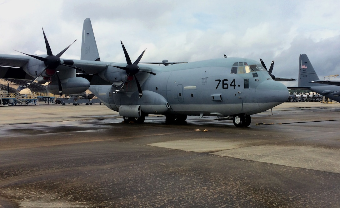 First U.S. Navy C-130 airframe has arrived at Robins Air Force Base under new workload