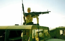 Airman Ryan Kaono poses in a Humvee in during his deployment to Saudi Arabia in 1996. (Courtesy photo)