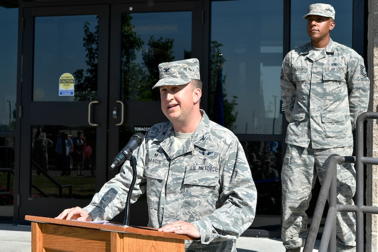 460th MDG celebrates massing of medics completion