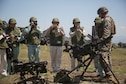 Members of the South Kanto Defense Bureau view common weapons...