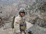 Tech. Sgt. Bradley Reilly, combat controller, prepares to clear caves in Afghanistan during a deployment in 2005. (Courtesy photo)