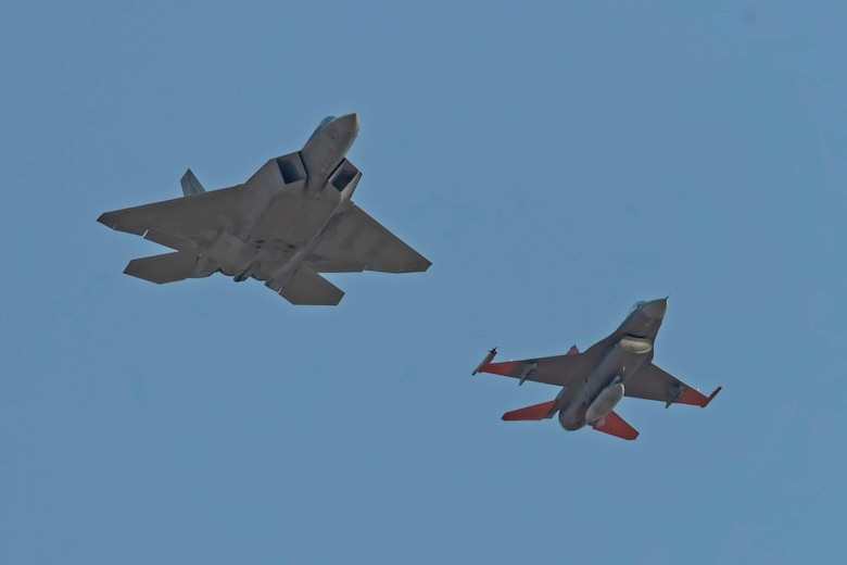 325th Fighter Wing, Father and son fighter pilots, F-22 Raptor, QF-16 Aerial Target