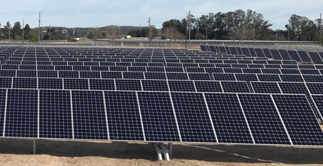 solar panels stretch across 180-acres