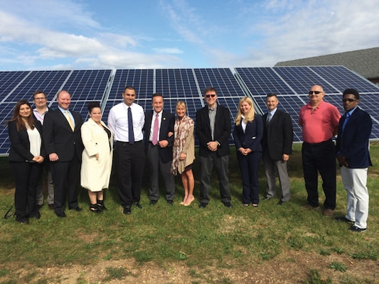 U.S. Environmental Protection Agency's Edison campus solar panel generation field