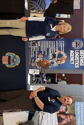 Brenda Minnema and Dave Lanzillotta represented DLA Land and Maritime at the 2018 HireOhio Career Fair