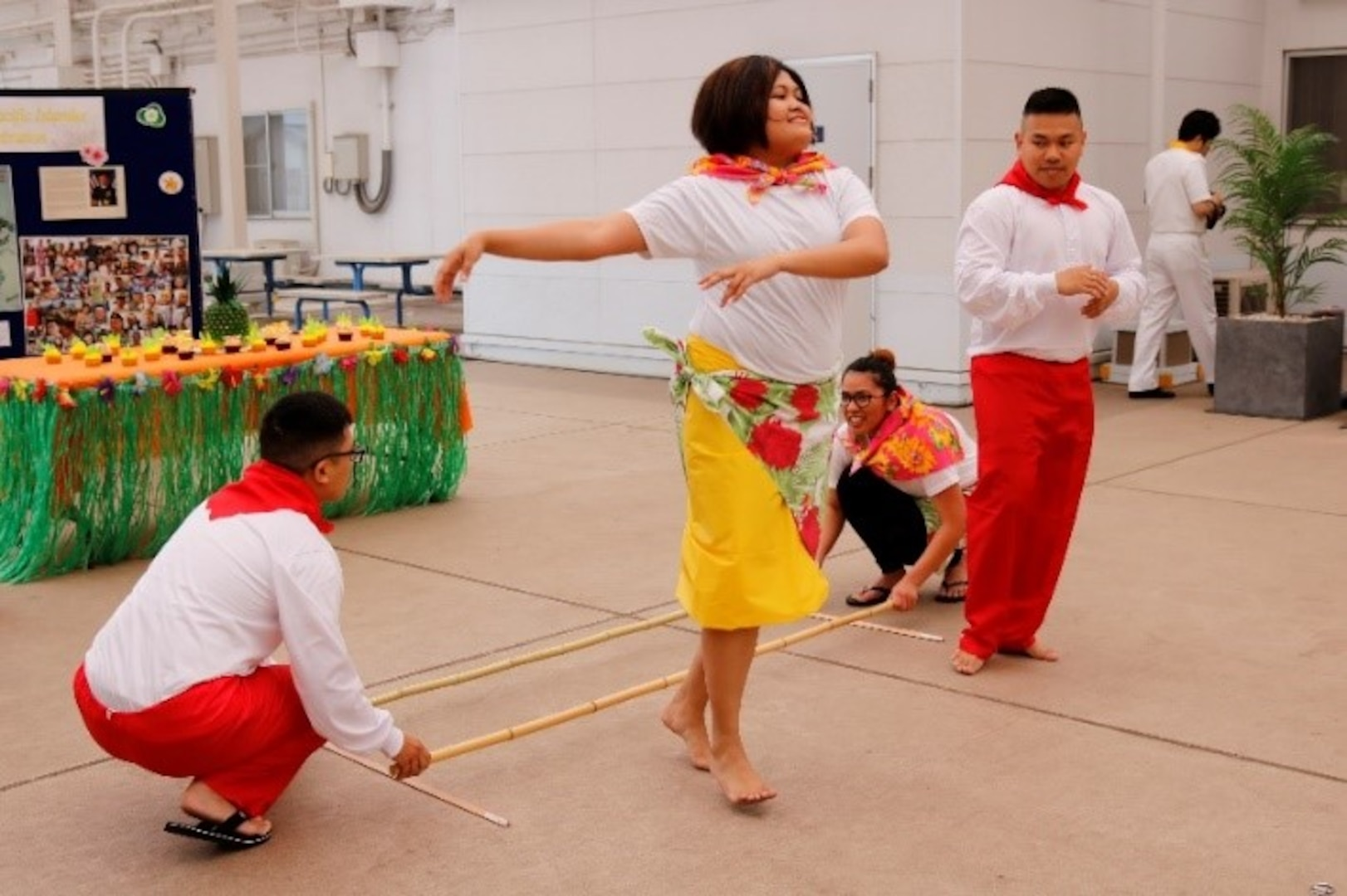 During the ceremony, performances such as Tinikling, a traditional Philippine folk dance, were demonstrated to pay tribute to the generations of Asian Americans and Pacific Islanders who have enriched America's history and have been instrumental in its future success.