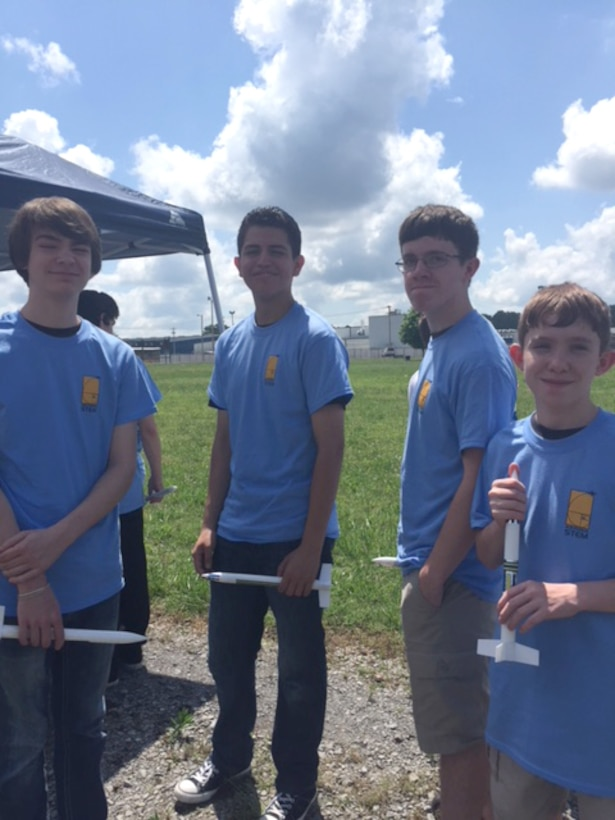 Students wait their turn to launch the rockets they designed during the Reach for the Stars competition held June 2 at the Hands-On Science Center. Results of the local Reach for the Stars competition determine national winners in that five of the closest of all entries submitted to the competition headquarters by deadline get invited to the National Winner's Celebration. (Courtesy photo)