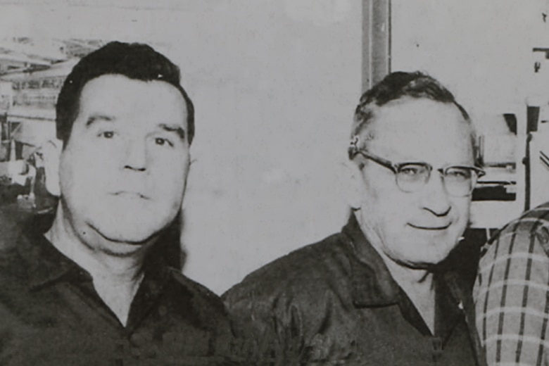 John Hill, left, and Alvin Overman. (U.S. Air Force Photo)