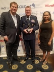 An Air Force Medical Service project to host, manage and analyze health data received a 2018 FedHealthIT Innovation Award, June 12, 2018. The AFMS Digital Biobank seeks to link genomic data collected by the Air Force to other Military Health System and Department of Veteran Affairs heath databases, using a cloud solution.   This enables precision medicine and integrate genomic data in health care, helping AFMS researchers and clinicians improve patient care, reduce medical costs, and improve health and readiness of service members and beneficiaries.  The FedHealthIT Innovation Awards recognize federal health innovation, technology and consulting sector programs across multiple federal agencies. Awardees are selected by their peers for driving innovation and results in federal health information technology.  (Courtesy photo by FedHealthIT)