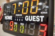 The 20th Force Support Squadron (FSS) supported the Four Chaplains 3-on-3 Basketball Tournament with scorekeeping at the 20th FSS main fitness center at Shaw Air Force Base, S.C., June 15, 2018.