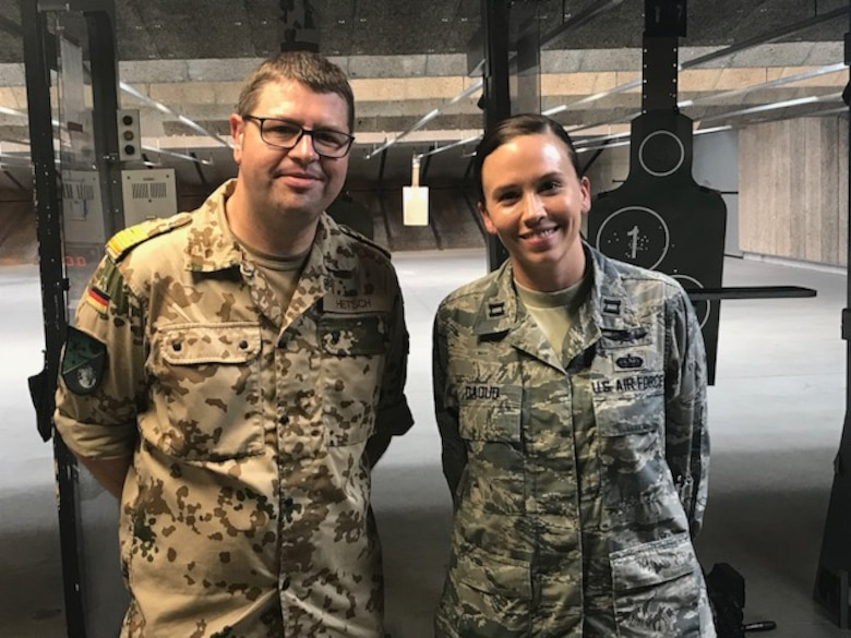 Capt. Randi Daoud, a member with the 178th Wing, hosted Christian Hetsch, a commander with the German Navy, as part of the Military Reserve Exchange Program, June 4-14, 2018 in Springfield, Ohio. Daoud planned an action-packed, two week tour of the National Guard to provide Hetsch with a better understanding of how the United States military operates.