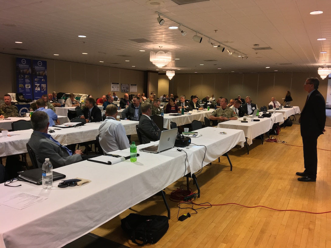 Members of Joint Task Force Civil Support participated in the Vista Crossing Tabletop Exercise and International CBRN Summit hosted by U.S. Northern Command and held at Peterson Air Force Base, Colorado June 12-13, 2018. The participants represented Federal and National Guard military, DoD civilians, and interagency and industry members. JTF-CS provides command and control for designated Department of Defense specialized response forces to assist local, state, federal and tribal partners in saving lives, preventing further injury, and providing critical support to enable community recovery.
