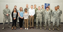 The 349th Air Mobility Wing welcomes newcomers during the June UTA.