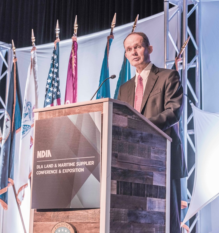 Dr. James Galvin speaks at 2018 DLA Land and Maritime Supplier Conference