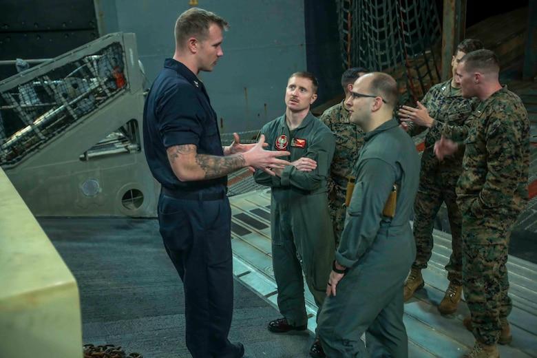 EWS Training aboard USS Iwo Jima